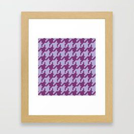 Houndstooth - Purple Framed Art Print