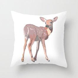 Baby Deer Art Throw Pillow