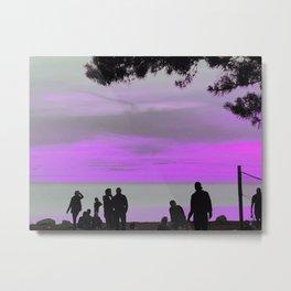 Dizzy people by the sea Metal Print