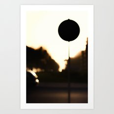 Street Eclipse Art Print