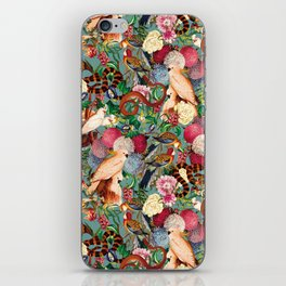Floral and Animals pattern iPhone Skin