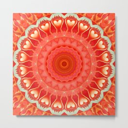 Mandala strong heart Metal Print