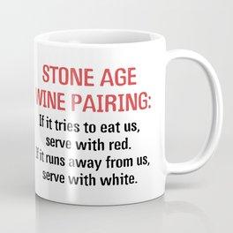 Stone Age Wine Pairing Coffee Mug