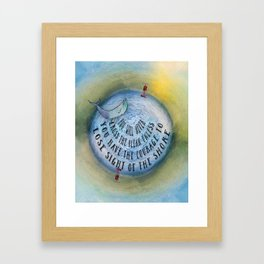 Courage to Lose Sight of the Shore Mini Ocean Planet World Framed Art Print
