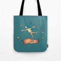 freedom Tote Bags featuring Freedom by Catru