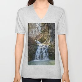 Alone in Secret Hollow with the Caves, cascades, and Critters, No.4 of 21 Unisex V-Neck