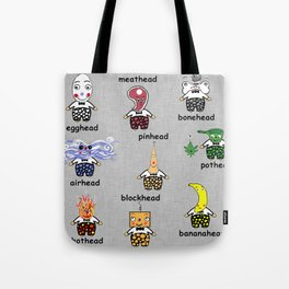 Weird and Wacky Head Types Tote Bag