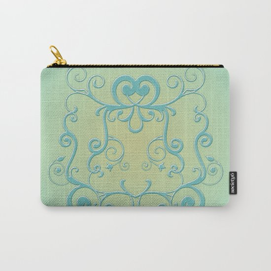 Mint tendrils emblem Carry-All Pouch