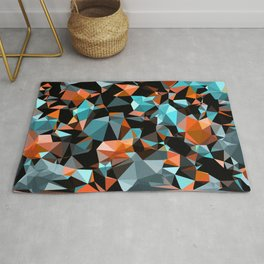 Copper Vein Abstract Low Poly Geometric Triangles Rug