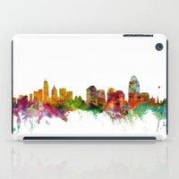 cincinnati iPad Cases featuring Cincinnati Ohio Skyline by artPause