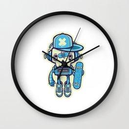 Robot Skull Skater Wall Clock