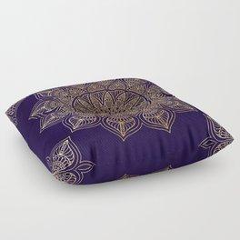 Gold Mandala Floor Pillow