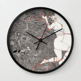 Wild We Are Beasts Wall Clock