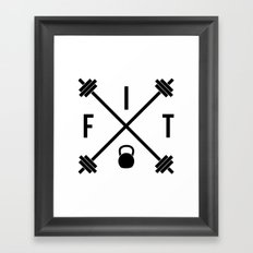 Hipster Fit Gym Quote Framed Art Print