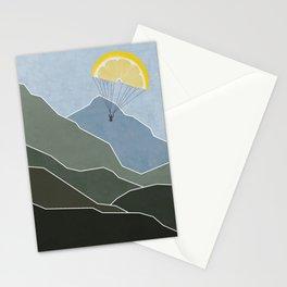 Lemon paraglider Stationery Cards