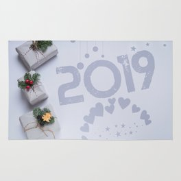 2019 New Year Christmas Presents Rug