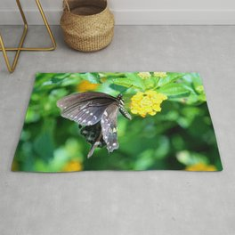 Butterfly Side View Rug
