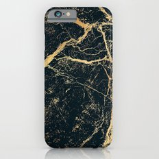 Black and Gold Marble iPhone 6s Slim Case