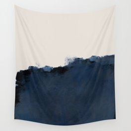 Abstract, blue, beige, indigo Wall Tapestry