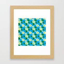 Yellow Hibiscus Hawaiian Pattern Framed Art Print