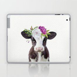Baby Cow with Flower Crown Laptop & iPad Skin