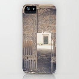 Door in Door Lucca italy tuscany iPhone Case
