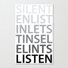 Silent Listen Canvas Print