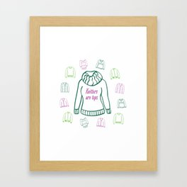 Knitters Are Tops - Plummy Framed Art Print
