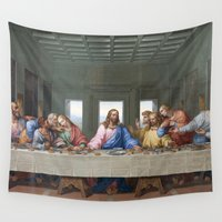 da vinci Wall Tapestries featuring The Last Supper by Leonardo da Vinci by Palazzo Art Gallery