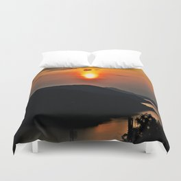 Sunset and the river Duvet Cover