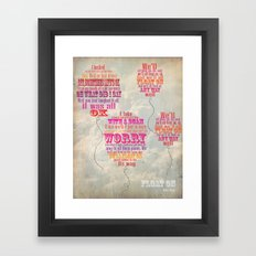 Modest Mouse Framed Art Print