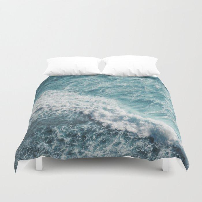 Saltwater Feelings Ocean Surf Duvet Cover