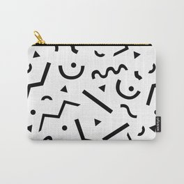 Memphis pattern Carry-All Pouch