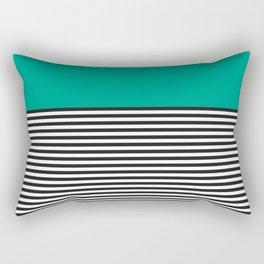 STRIPE COLORBLOCK {EMERALD GREEN} Rectangular Pillow