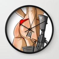 soldier Wall Clocks featuring soldier by ErsanYagiz