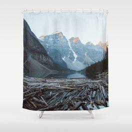 Moraine Lake Sunrise Shower Curtain