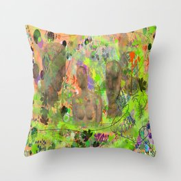 Botanical Figures Throw Pillow