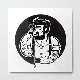 Barba Metal Print