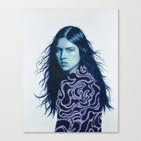 luna Canvas Prints featuring Luna by Amanda Mocci