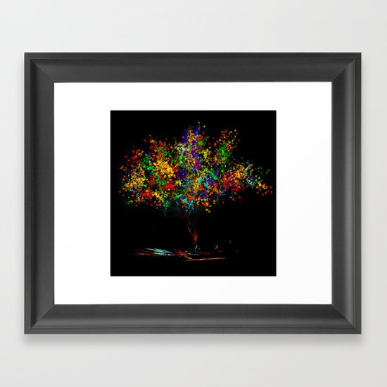 The Most Colorful Tree of the World Framed Art Print