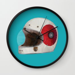 Bell Bullitt Cafe Racer Helmet Polygon Art Wall Clock