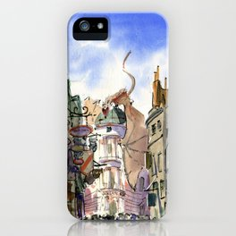 Diagon Alley, Universal Studios iPhone Case