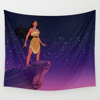 pocahontas Wall Tapestries featuring Pocahontas ♥ by Vita♥G