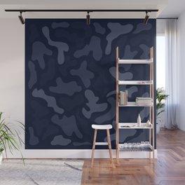 Hunter and Huntress Camo Blue Wall Mural