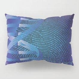 CSI DNA Crime Scene Fingerprint Cool Modern Graphic Illustration Pillow Sham