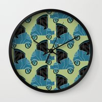 cars Wall Clocks featuring Cars by Cliodhna Ztoical