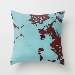 2020 Fall/Winter 08 Aquamarine Throw Pillow
