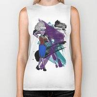 ursula Biker Tanks featuring Disneyland Ursula Evil Relations by Joey Noble