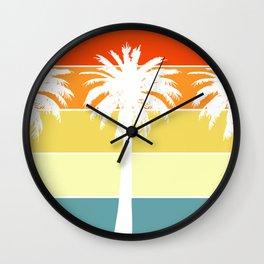 reposado sunset -  summer night gradient  Wall Clock