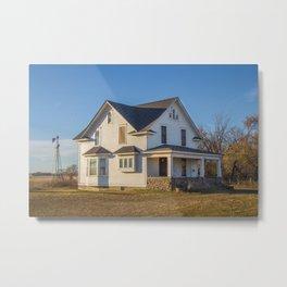 Beautiful House, Chaseley, North Dakota 2 Metal Print